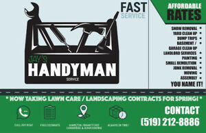 HANDYMAN SERVICES- Junk Removal, Cleaning  YOU NAME IT! CALL NOW