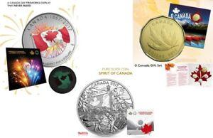 Silver Proudly Canadian, Spirit Of Canada  & O Canada 5 Coin Set
