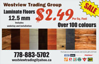 High Quality 12.5mm Laminate Flooring Include Installation $2.49