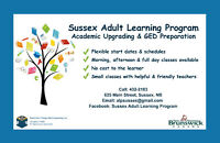 Academic Upgrading and GED Prep for Sussex and Area
