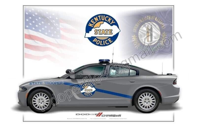 Kentucky State Police Dodge Charger Poster Print