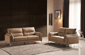 Genuine Top Grain Leather Sofa Set ( Sofa & Loveseat )