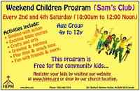 Weekend Children Program (Free)