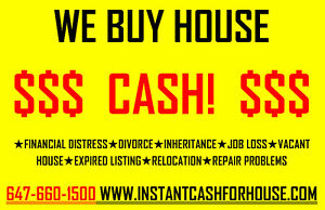WE BUY HOUSES / DUPLEX / MULTIPLEX --- CASH PAYMENT REPLY NOW
