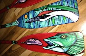 One-of-a-Kind Hand-painted Paddles