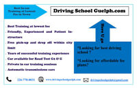 In-Car training at lowest fee, Full Course $449.00 Only