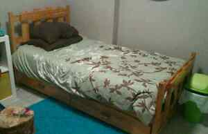Single bed complete for sale plus sheet sets