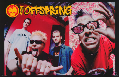 LOT OF 2 POSTERS: MUSIC : OFFSPRING  - ALL 4 POSED   - FREE SHIP   #6217  RC14 D