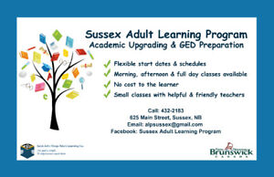 Sussex Area GED Prep and Academic Upgrading Classes