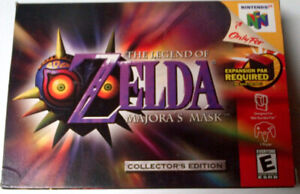N64 Zelda Majora's Mask Collectors Edition with Box and Manual