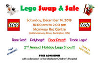Lego Swap and Sale -- Burlington Mainway Arena - Sat. Dec 14