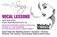 Learn to Sing! Vocal Lessons