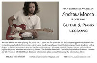 PROFESSIONAL MUSICIAN OFFERING GUITAR & PIANO LESSONS