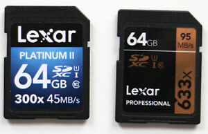 trade two 64GB SD cards for one CF card