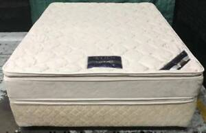Excellent queen bed base with double-sided queen wool mattress Kingsbury Darebin Area Preview