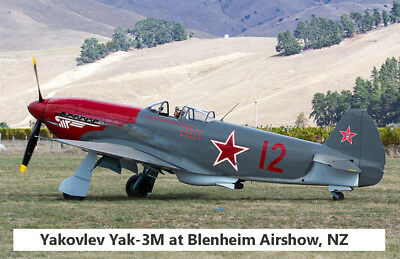 "Model Airplane Plans (UC): Yak-3 1/12 Scale 32½"" for .19-.35 Engines (Musciano)"