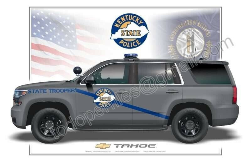 Kentucky State Police Chevrolet Tahoe Poster Print