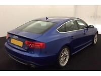 Blue AUDI A5 SALOON 3.0 TDI Diesel SPORTS LINE QUATTRO FROM £54 PER WEEK !