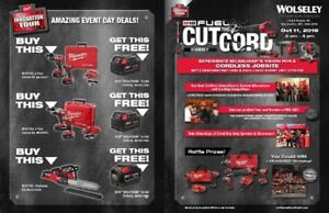 MILWAUKEE TOOL 'CUT THE CORD' BLOWOUT SALE - THURSDAY OCT 11th