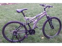 "Men's adult bike Dunlop Special Edition silver 26"" wheel"