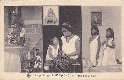 La petite Igorote , Philippines , 00-10s La devotion a la Ste Vlerge