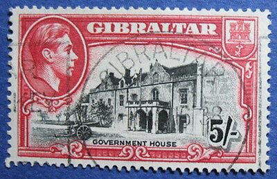 1938 GIBRALTAR 5S SCOTT# 116a S.G.# 129 USED CS02036