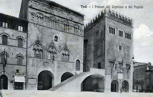 TODI-I-Palazzi-del-Capitano-e-del-popolo-Viaggiata-Anno-1919