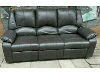 Black Leather Recliner Sofa