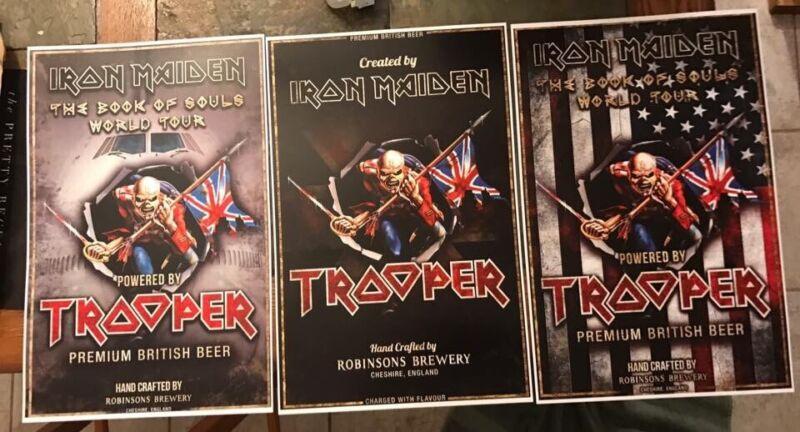 Iron maiden Trooper beer Poster Set   set Of 3 - 11x17