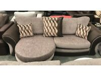 DFS fabric chaise 3 seater sofa