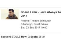 2 shane filan tickets for sale..