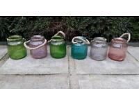 Large Glass jars × 6