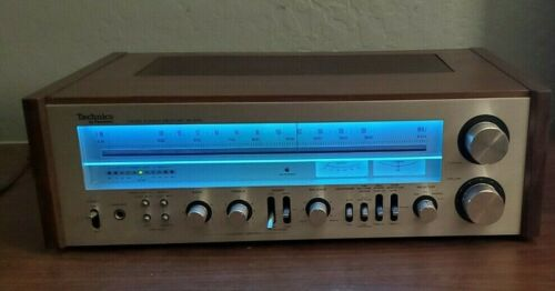 TECHNICS SA-500 RECEIVER VINTAGE - W/ Upgraded Cool Blue Led
