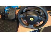 Thrustmaster usb wheel and pedals set
