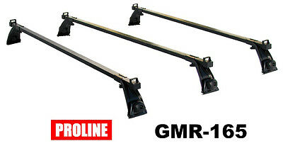 Proline Rain Gutter Roof Rack - Set of 3 Complete Crossbars