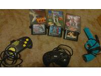 Sega Mega Drive games & controllers - retro