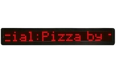 Scrolling Message Board Led Sign Programmable 26 Red Open Closed Grocery Store