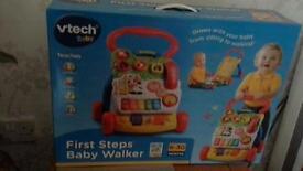 Vtech first steps baby walker new still boxed