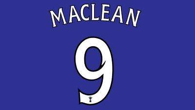 Maclean #9 St Johnstone Scottish Cup Final 2014 Football Nameset for shirt image