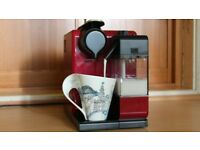As new Nespresso De'Longhi Lattissima Touch Automatic Coffee Machine - Glam Red - auto milk frother
