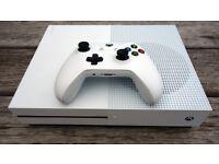 Xbox one s 1TB all white with box, brilliant condition