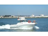 Faeton Moraga 780, excellent fishing boat with new removable fighting chair
