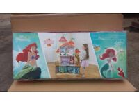 Disney princess Ariel land on sea castle wooden dolls house 4ft high brand new