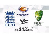ENGLAND vs AUSTRALIA ICC Champions Trophy 2017 TICKETS (SAT 10 JUN 2017 , 10:30 AM)