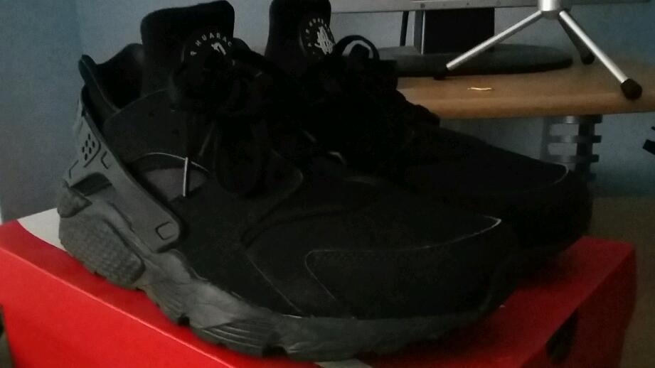 impre Triple Black Huaraches not Nike Air Max, Tns, Yeezy, Jordan or ZX