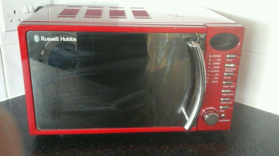 Microwave toaster kettle red kitchen appliancesin Stanway, EssexGumtree - Microwave kettle toaster and cannisters for sale lining on microwave has come off slightly but doesnt affect use all good clean working condition