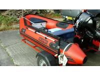 Sea Pro 340 hd, 8hp Parsun with Trailer