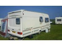 Imaculate 2 berth caravan with motor mover