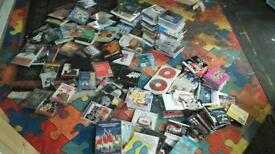Aprox 150 cds dvds and old BBC sitcom tapes