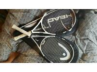 head tennis bag + 2 rackets